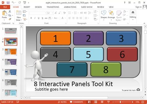interactive powerpoint templates create interactive powerpoint presentations with 8 panels