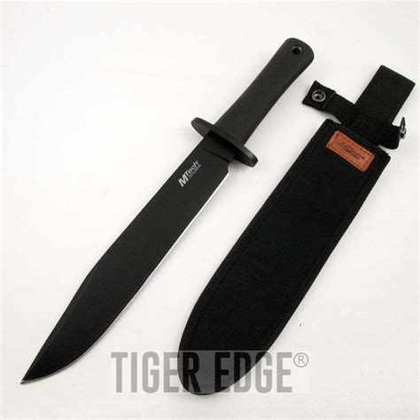 tang bowie knife mtech 14 5 quot black tang tactical combat bowie knife w