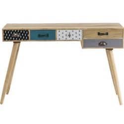 bureau console scandinave 5 tiroirs couleur achat