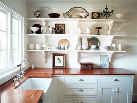 kitchen sheved open shelves kitchen design ideas for the simple person