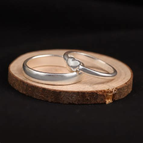 Handmade Band Rings - ph7 handmade couples rings ring and domed