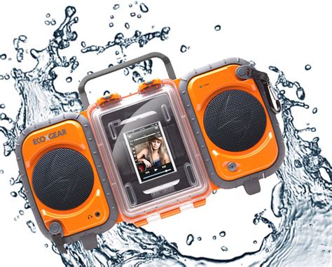 ecoxgear rugged and waterproof stereo boombox ecoxgear rugged and waterproof stereo boombox black gdi aq2si61 home audio theater