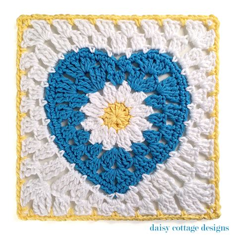pattern for heart granny square daisy cottage designs free crochet patterns