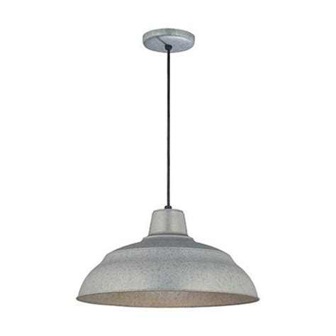 Outdoor Galvanized Lighting Galvanized Warehouse Pendant Light Bellacor