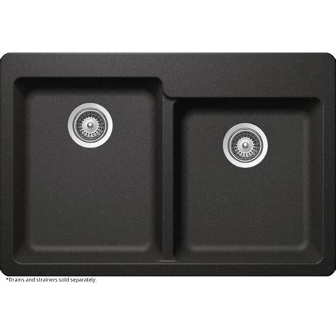 black undermount kitchen sinks elkay elkay by schock undermount quartz composite 33 in