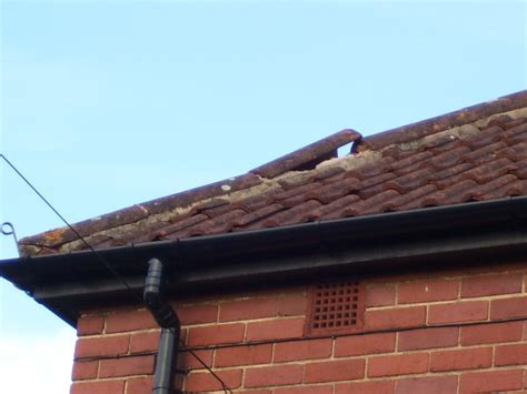 ridge tiles on roof hip need replacing roofing in