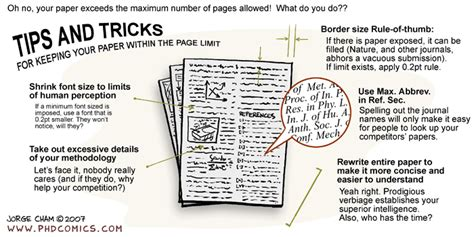 Phd Comics Literature Review by Phd Comics Keeping Your Paper Within The Page Limit