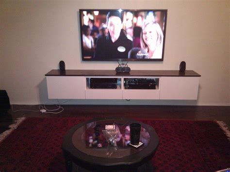 floating tv ikea besta floating media center ikea hackers different front