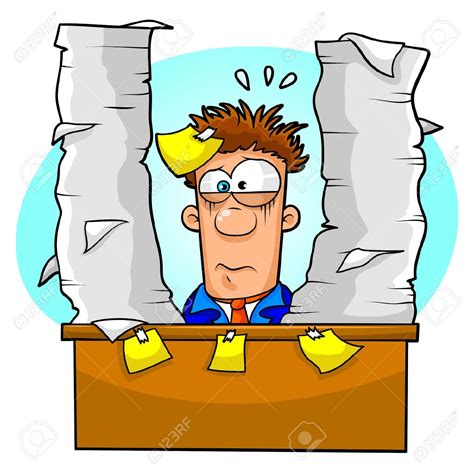 office free clipart overwhelmed office worker clipart