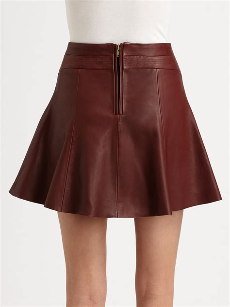a l c reese leather mini skirt in lyst