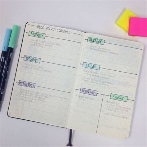 journal blog layout showing you around my blogging bullet journal www