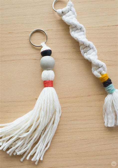 macrame keychain how to diy tassel and macram 201 keychains think make