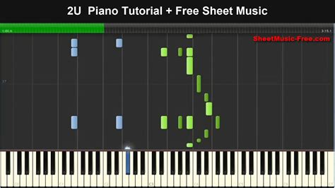 tutorial online piano 2u piano tutorial free sheet music justin bieber ft