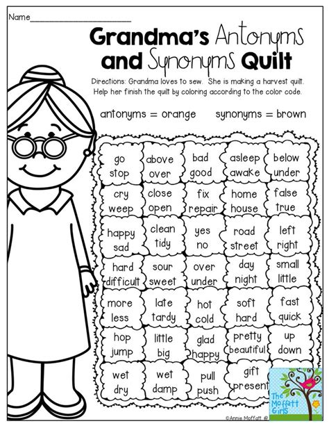 pattern of synonyms a fun way to review antonyms and synonyms teacher plans