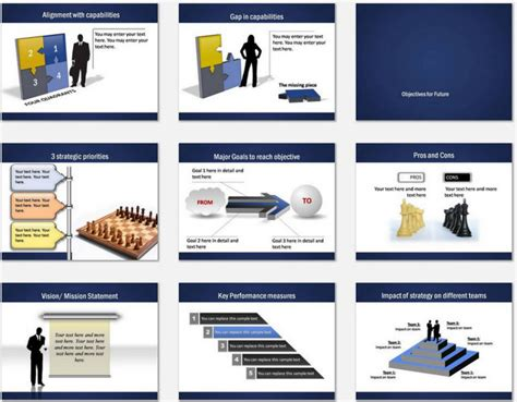 Powerpoint Professional Blue Template Professional Powerpoint Slides