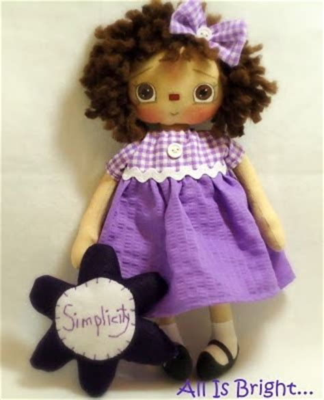 Handmade Rag Dolls For Sale - handmade teddy bears and raggedies adorable purple sweetness