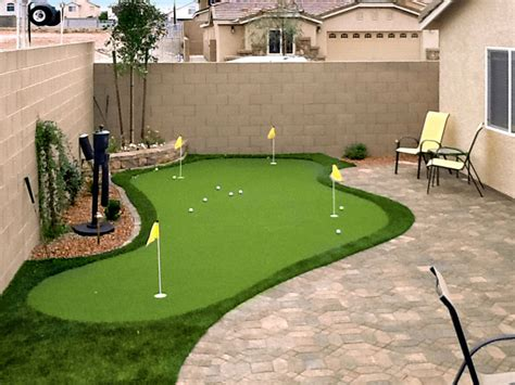 backyard green putting greens in las vegas nv synthetic putting greens