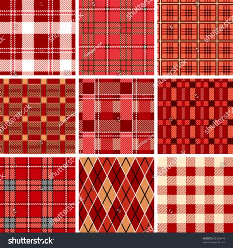 checked pattern en francais seamless red check pattern stock vector 69260449