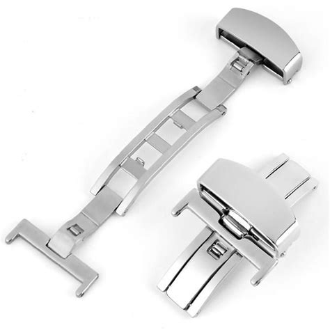 Murah Buckle Clasp Connector Silver clasp buckle stainless steel jam tangan size 16mm silver jakartanotebook