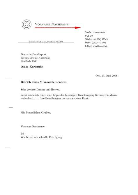 Standard Briefvorlage Brief Vorlagen F 252 R 171 Stefan S Weblog