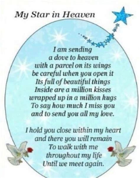 Birthday mothers star thought memory my star in heaven i miss you