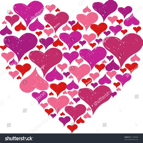 z pattern heart sounds heart pattern stock vector illustration 17456638