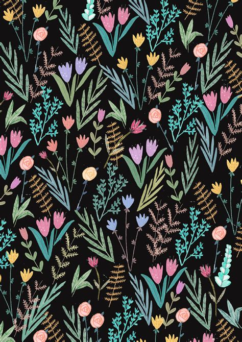 floral pattern artwork flowers colour pattern print print design floral print