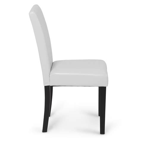 Leather Dining Room Chairs Modern Modern Parsons Chair Leather Dining Living Room Chairs Seat Set Of 2