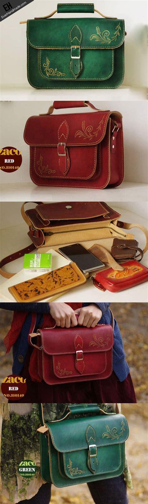 Michael Handcraft - handcraft vintage floral leather carved satchel shoulder