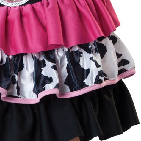 Wst 18320 Black Pink Barcode Dress children giddy up costume age 4 6 years 1