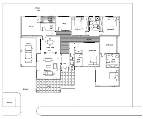build house floor plan ghana house plans asafoatse house plan