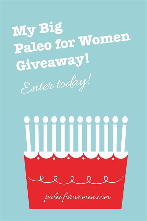 Giveaways For Women - my big once a year giveaway paleo for women