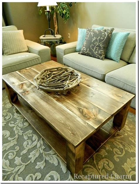 diy coffee and end tables rustic coffee table and end tables woodworking projects plans