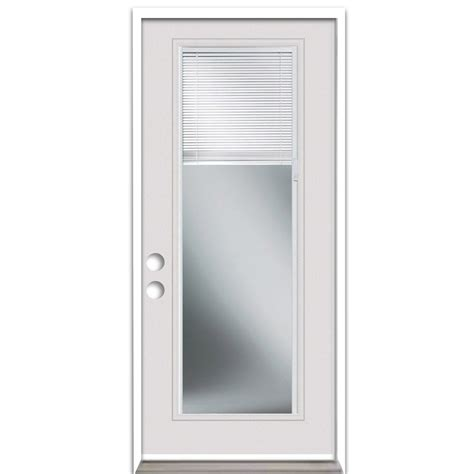 Exterior Door With Blinds Shop Reliabilt Blinds Between The Glass Lite Prehung Inswing Steel Entry Door Common 32