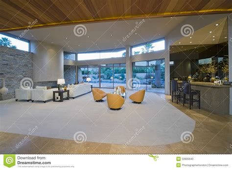 area of a room spacious living room by bar area against porch stock photo image 33905640