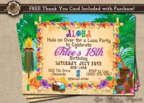 hawaiian invitation luau birthday invitation luau