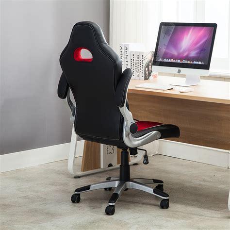 Desk Flip by Office Chair Ergonomic Computer Pu Leather Desk Race Car