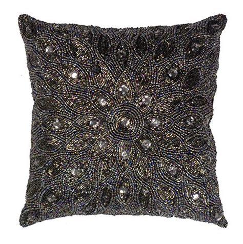 beaded decorative pillows cotton craft throw pillows peacock beaded