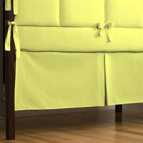 Box Pleat Crib Skirt by Lime Organic Crib Skirt Box Pleat Solid Lime Green