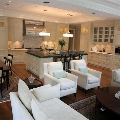 great room kitchen dining room family room combo