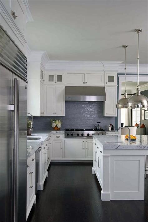 white shaker kitchen cabinets click below for larger white and blue kitchen features white shaker cabinets