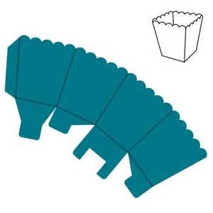 popcorn box template box popcorn mini accucut decor and ideas for