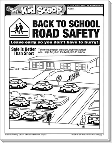 printable road safety games back to school road safety kid scoop