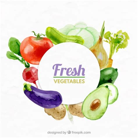 fruit n veg diet fresh vegetables background vector free