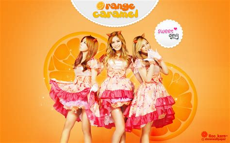 Orange Caramel orange caramel sweet wallpaper by nookarn