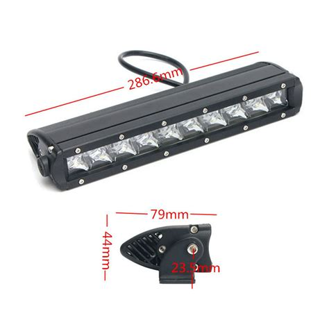led boat bumper lights 50w cree 11 12inch single row led light bar spot offroad