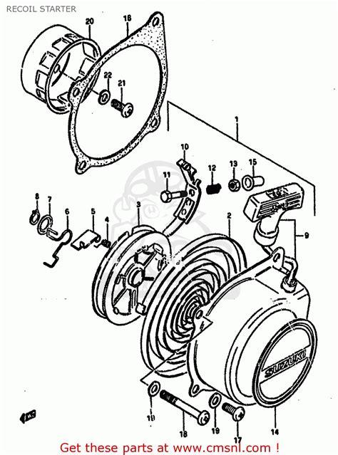 1985 Suzuki Lt50 Parts Suzuki Lt50 1985 F Recoil Starter Schematic Partsfiche