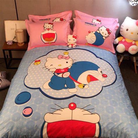 Set Bed Cover Doraemon Murah 1 get cheap doraemon bed sheets aliexpress