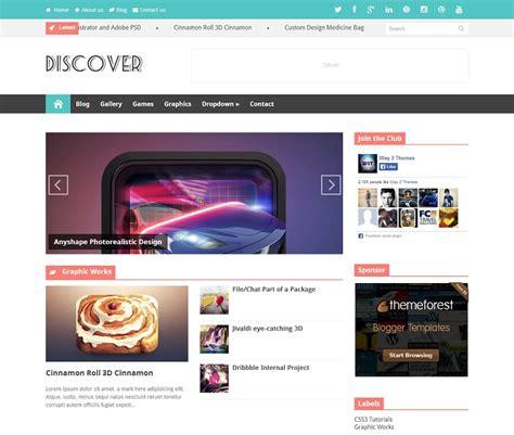 discover responsive modern blogger template 187 abtemplates com