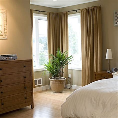 Curtains Corner Windows Ideas Corner Window Treatment House Ideas
